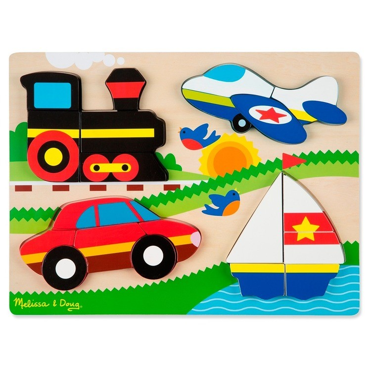 cheap Melissa & Doug Chunky Jigsaw Puzzle - Vehicles 20pc reasonable competitive