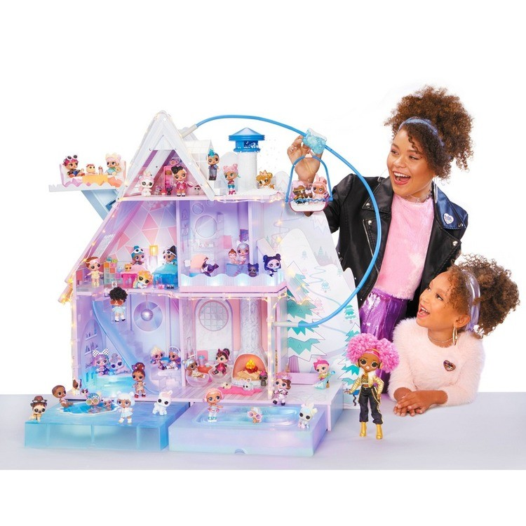 cheap L.O.L. Surprise! Winter Disco Chalet Doll House with 95+ Surprises competitive reasonable