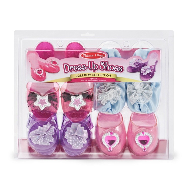 competitive Melissa & Doug Role Play Collection - Step In Style! Dress-Up Shoes Set (4 Pairs) reasonable cheap