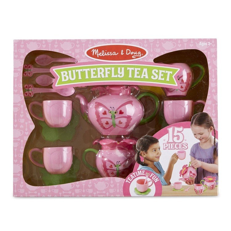 competitive Melissa & Doug Sunny Patch Bella Butterfly Tea Set (17pc) - Play Food Accessories cheap reasonable