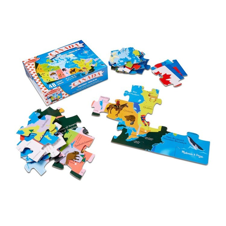 reasonable Melissa And Doug Canada Map Jumbo Floor Puzzle 48pc competitive cheap