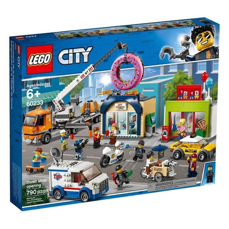 reasonable LEGO City Donut Shop Opening 60233 Store Opening Build and Play with Toy Vehicles and City Minifigures competitive cheap
