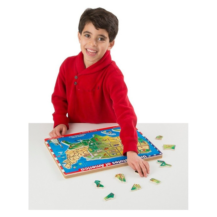 competitive Melissa & Doug USA Map Sound Puzzle - Wooden Peg Puzzle With Sound Effects (40pc) cheap reasonable