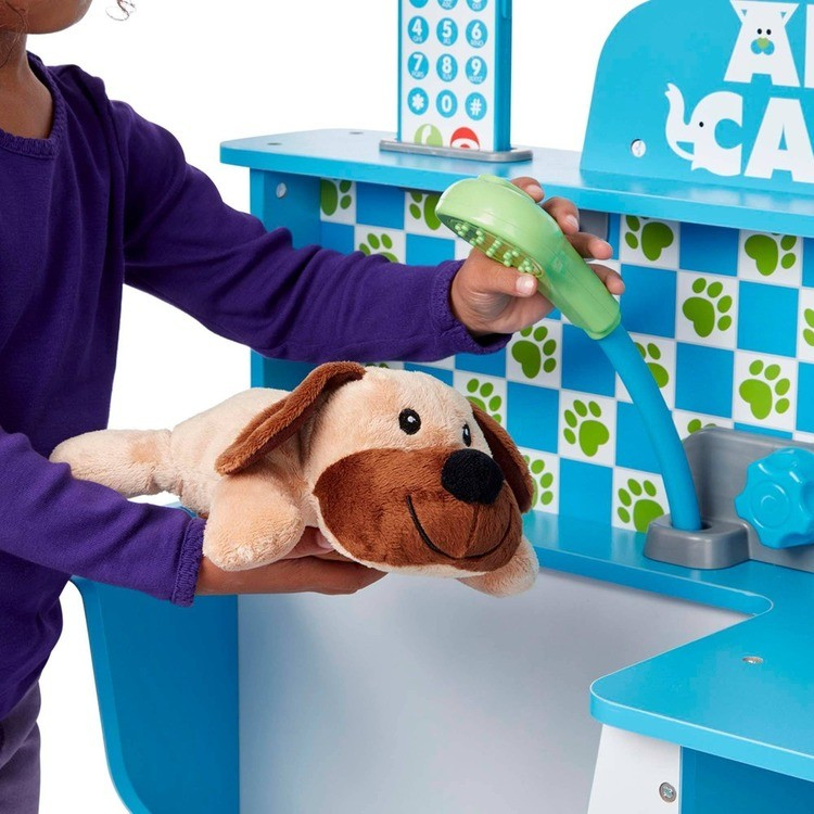 competitive Melissa & Doug Animal Care Veterinarian and Groomer Wooden Activity Center cheap reasonable