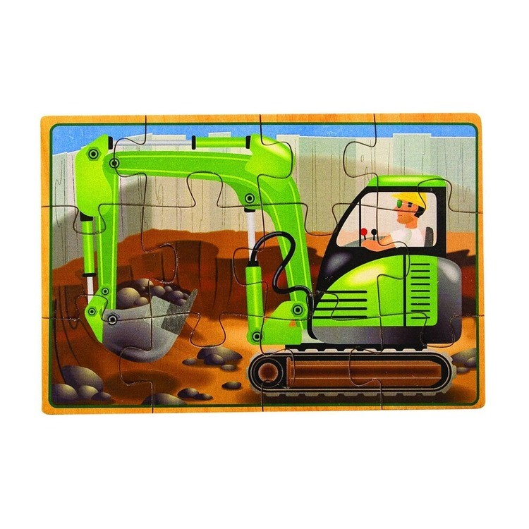 reasonable Melissa & Doug Construction Vehicles 4-in-1 Wooden Jigsaw Puzzles (48pc) competitive cheap