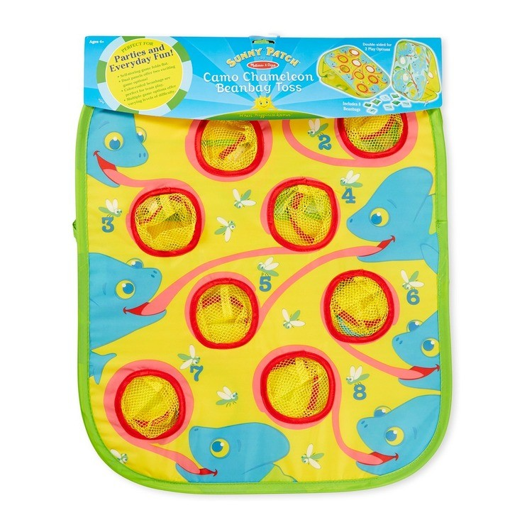 reasonable Melissa & Doug Sunny Patch Camo Chameleon Bean Bag Toss Action Game cheap competitive