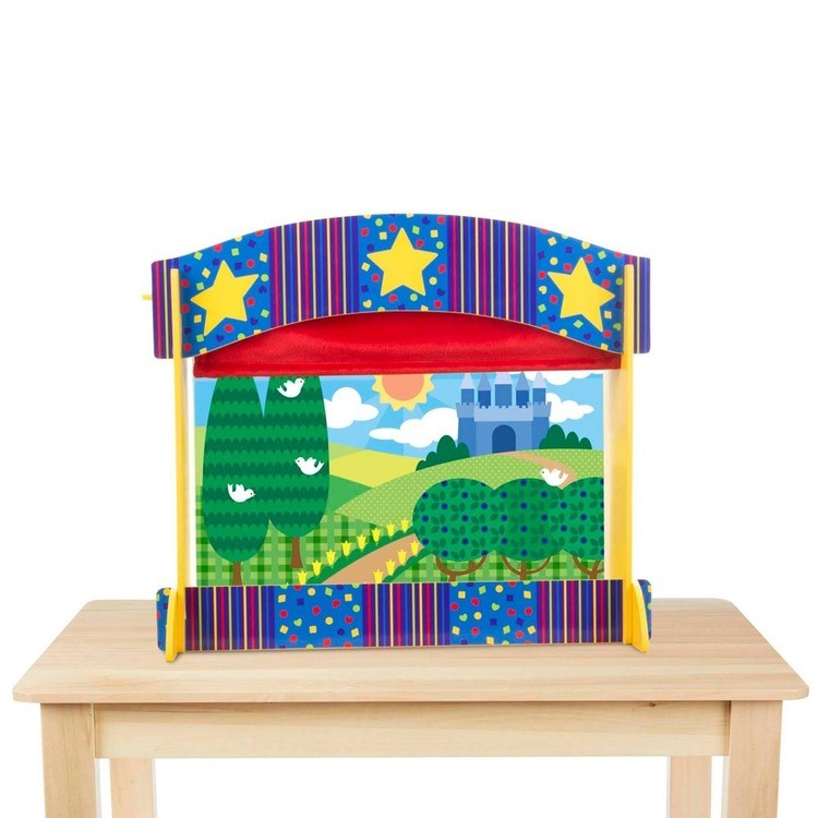 cheap Melissa & Doug Tabletop Puppet Theater - Sturdy Wooden Construction competitive reasonable