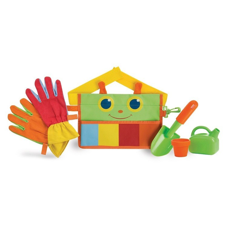 reasonable Melissa & Doug Sunny Patch Happy Giddy Garden Tool Belt Set With Gloves, Trowel, Watering Can, and Pot competitive cheap
