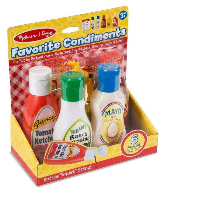 cheap Melissa & Doug 6pc Favorite Condiments Play Food Set reasonable competitive