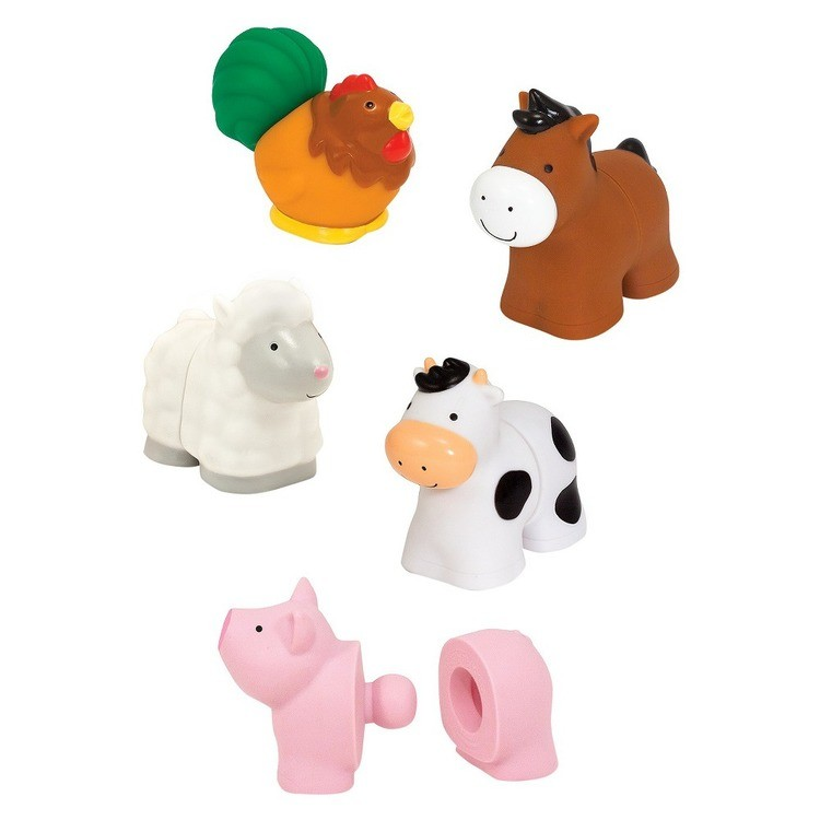 reasonable Melissa & Doug Pop Blocs Farm Animals Educational Baby Toy - 10 Linkablepc cheap competitive