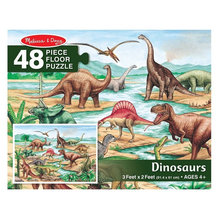 cheap Melissa And Doug Dinosaurs Jumbo Floor Puzzle 48pc reasonable competitive
