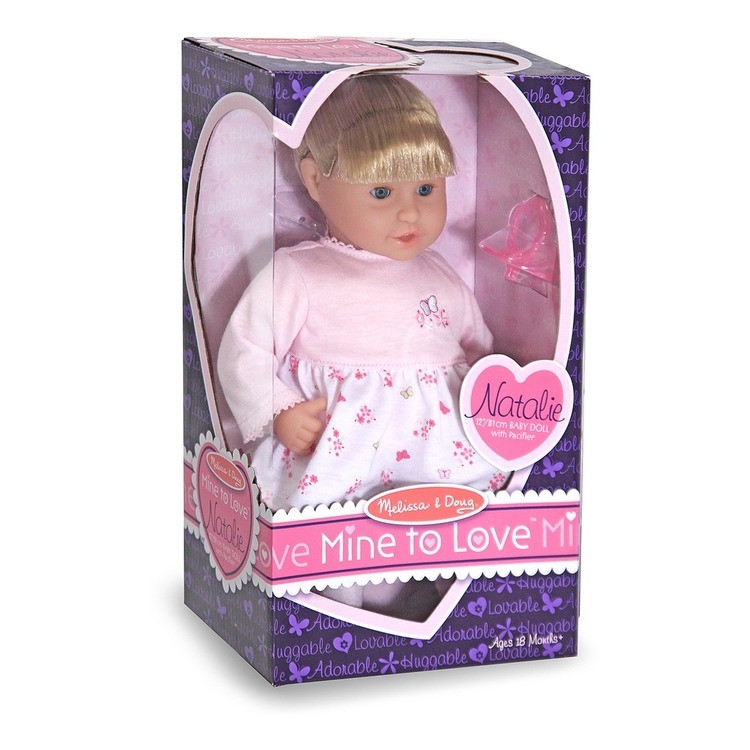 reasonable Melissa & Doug Mine to Love Natalie 12-Inch Soft Body Baby Doll With Hair and Outfit cheap competitive