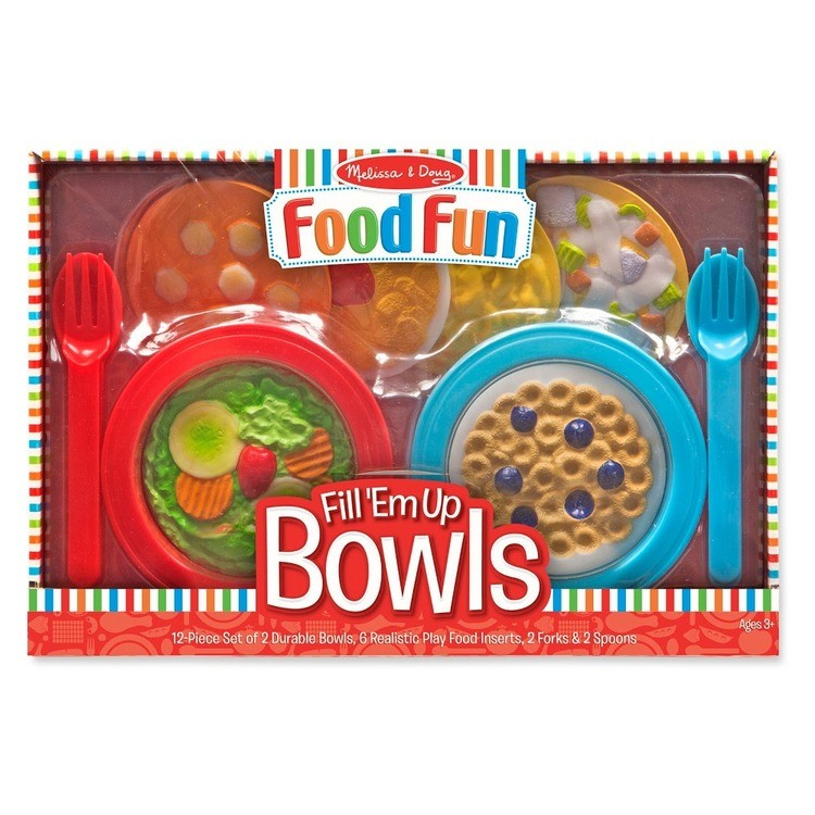 cheap Melissa & Doug Create-A-Meal Fill Em Up Bowls (12pc) - Play Food and Kitchen Accessories reasonable competitive