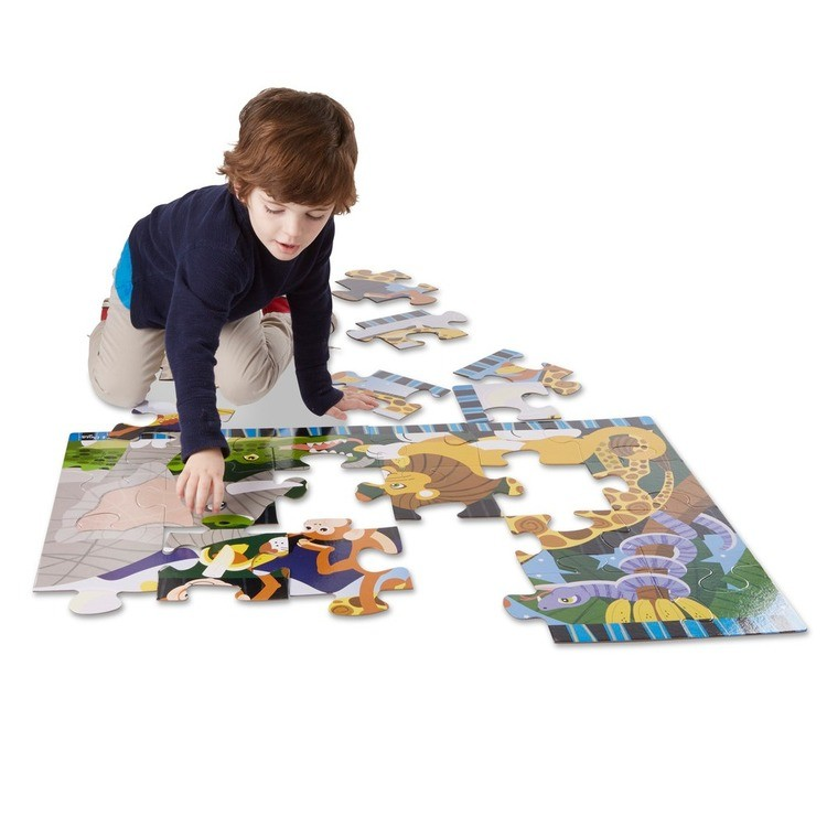 cheap Melissa And Doug Safari Social Jumbo Floor Puzzle 24pc reasonable competitive