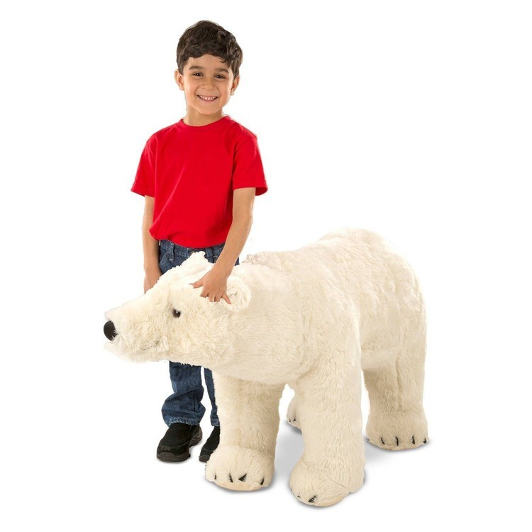 cheap Melissa & Doug Giant Polar Bear - Lifelike Stuffed Animal (nearly 3 feet long) competitive reasonable