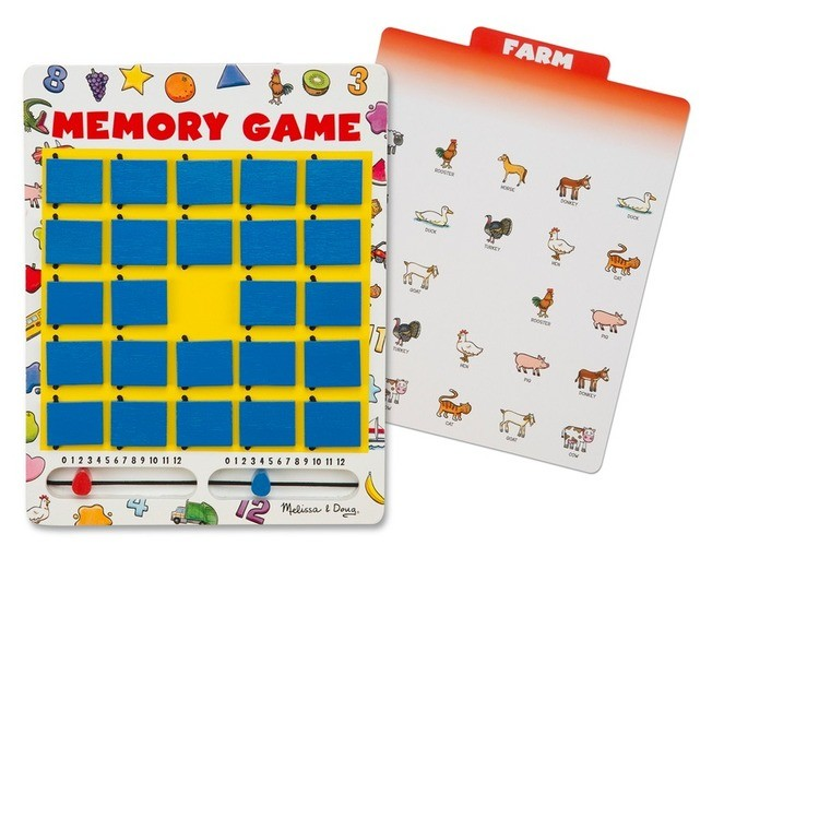 competitive Melissa & Doug Flip to Win Travel Memory Game - Wooden Game Board, 7 Double-Sided Cards, Kids Unisex reasonable cheap