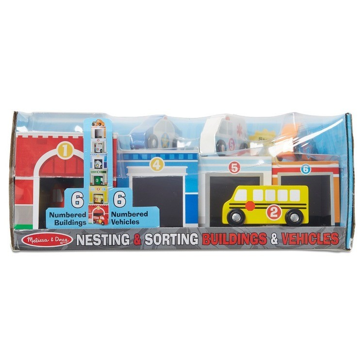 cheap Melissa & Doug Nesting & Sorting Toys - Buildings & Vehicles reasonable competitive