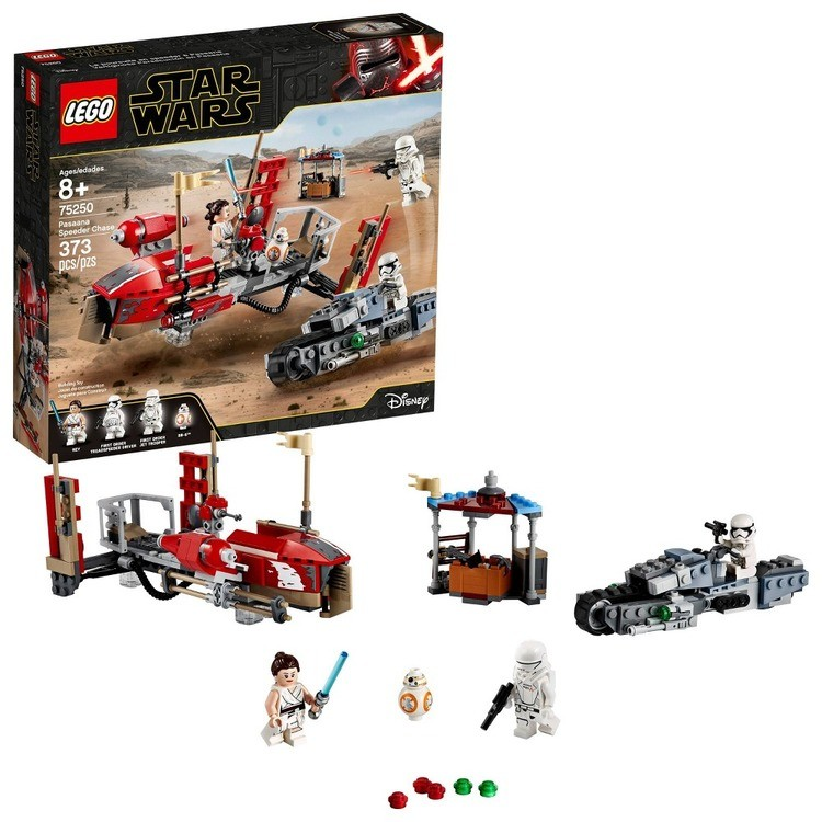 reasonable LEGO Star Wars: The Rise of Skywalker Pasaana Speeder Chase 75250 Hovering Transport Speeder Building Kit with Action Figures 373pc competitive cheap