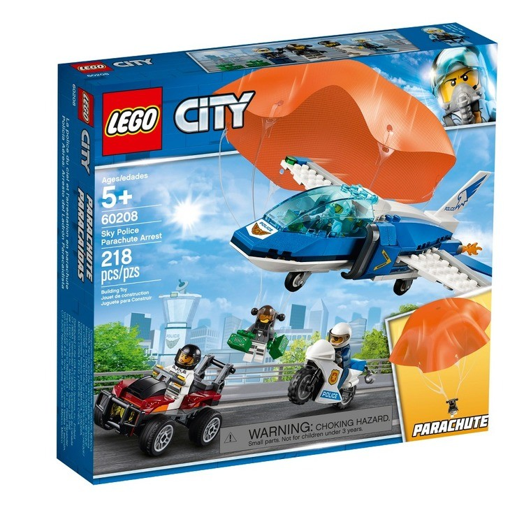cheap LEGO City Sky Police Parachute Arrest 60208 competitive reasonable