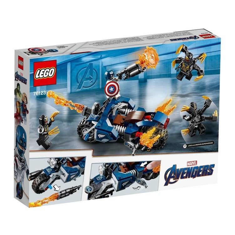 cheap LEGO Super Heroes Marvel Avengers Movie 4 Captain America: Outriders Attack 76123 reasonable competitive