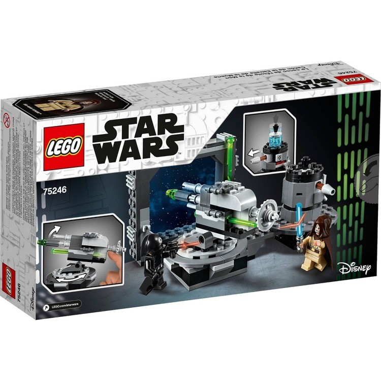competitive LEGO Star Wars: A New Hope Death Star Cannon 75246 Advanced Building Kit with Death Star Droid reasonable cheap