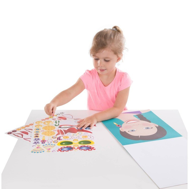 cheap Melissa & Doug Sticker Pads Set: Jewelry and Nails, Dress-Up, Make-a-Face, Favorite Themes - 1225+ Stickers competitive reasonable