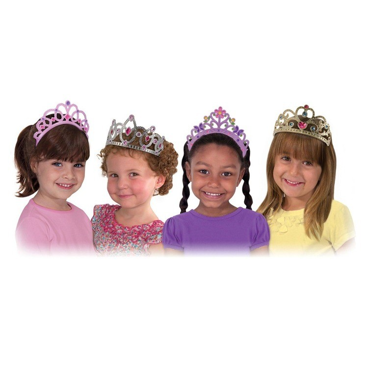reasonable Melissa & Doug Role Play Dress-Up Bundle - Tiaras and Wands cheap competitive