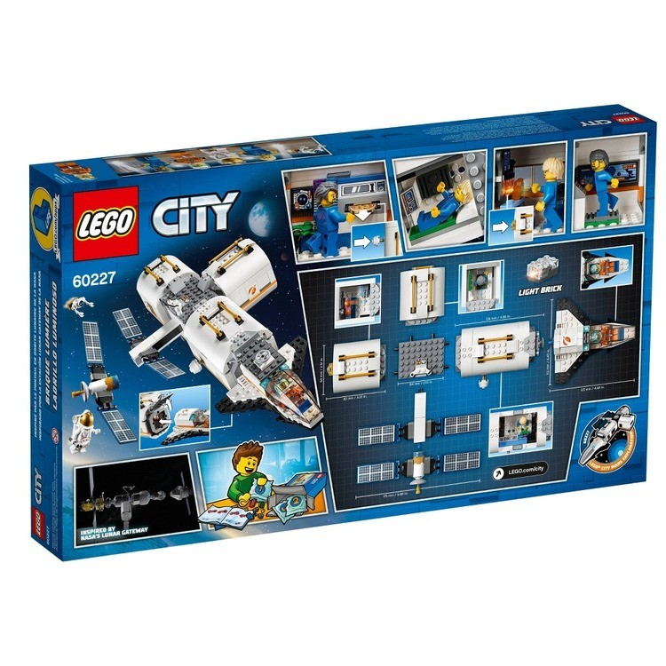 reasonable LEGO City Space Lunar Space Station 60227 Space Station Building Set with Toy Shuttle competitive cheap