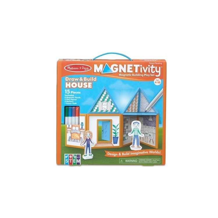 reasonable Melissa & Doug Magnetivity - Draw & Build House cheap competitive