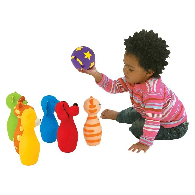 cheap Melissa & Doug K's Kids Bowling Friends Play Set and Game With 6 Pins and Convenient Carrying Case competitive reasonable