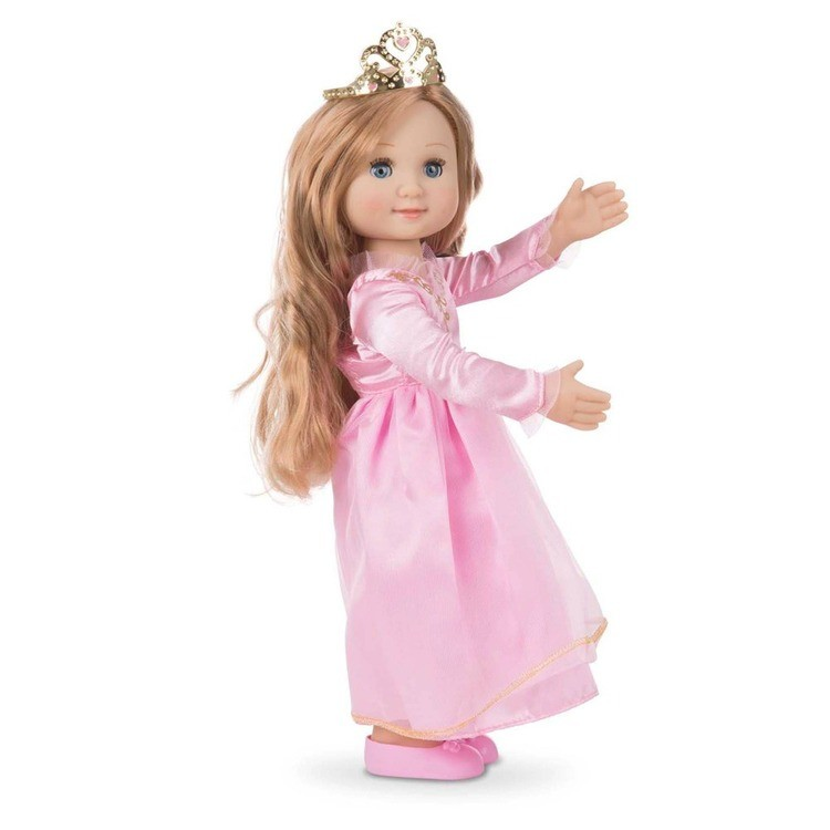 competitive Melissa & Doug Celeste 14-Inch Poseable Princess Doll With Pink Gown and Tiara cheap reasonable