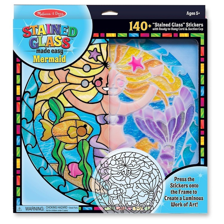 reasonable Melissa & Doug Stained Glass Made Easy Activity Kit: Mermaids - 140+ Stickers cheap competitive