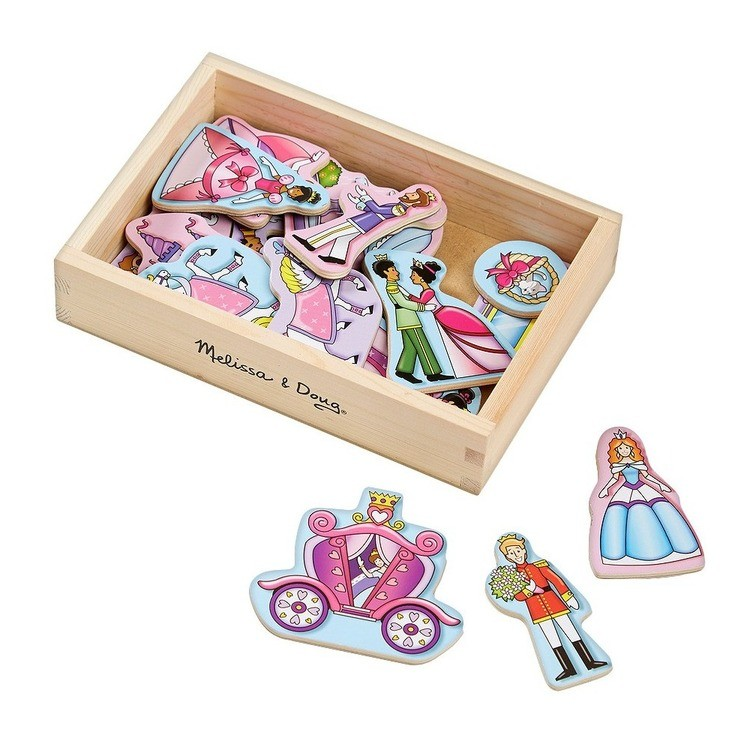cheap Melissa & Doug 20 Wooden Princess Magnets in a Box reasonable competitive