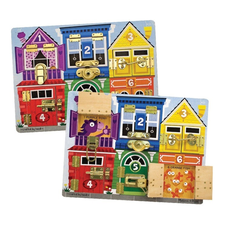competitive Melissa & Doug Latches Wooden Activity Board reasonable cheap