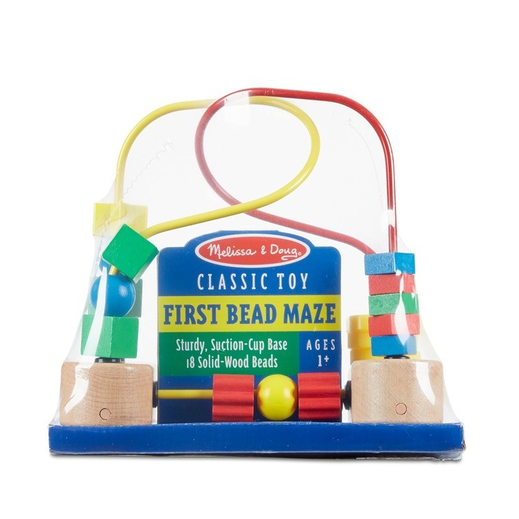 cheap Melissa & Doug First Bead Maze - Wooden Educational Toy competitive reasonable