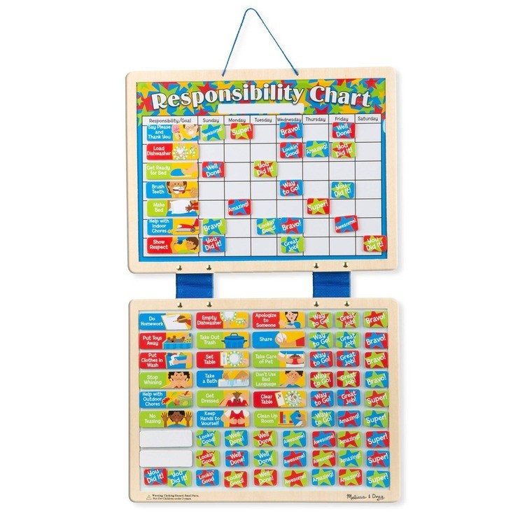 competitive Melissa & Doug Kids' Magnetic Calendar and Responsibility Chart Set With 120+ Magnets to Track Schedules, Tasks, and Behaviors cheap reasonable