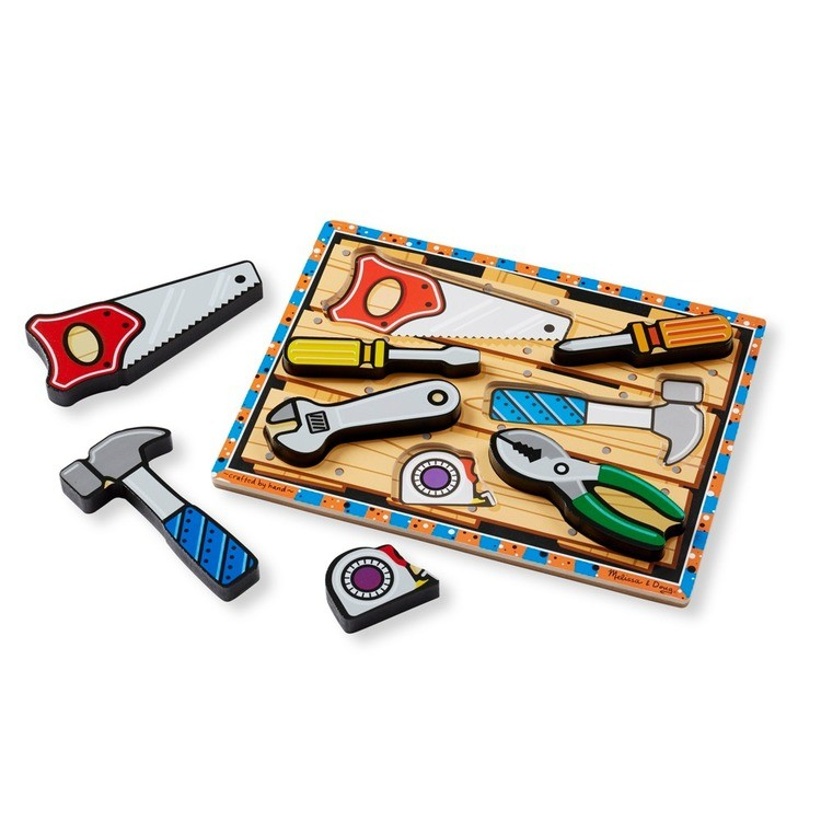 competitive Melissa & Doug Doug Vehicles and Tools Wooden Chunky Puzzle Bundle 2pc cheap reasonable