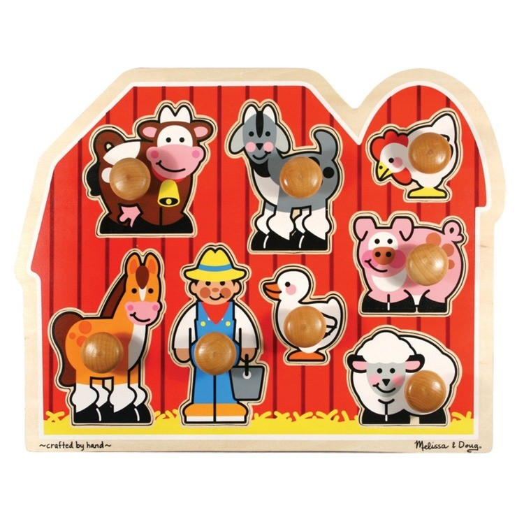 cheap Melissa & Doug Farm Animals Jumbo Knob Wooden Puzzle 8pc reasonable competitive