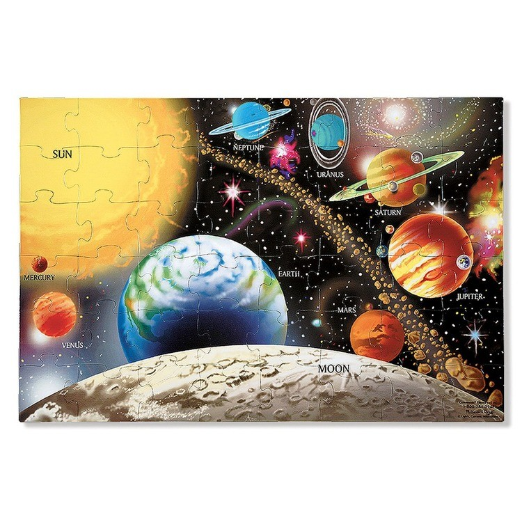 cheap Melissa And Doug Solar System Floor Puzzle 48pc competitive reasonable