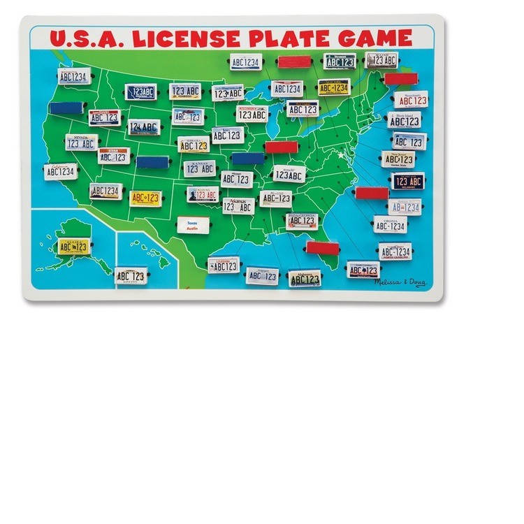 reasonable Melissa & Doug Flip to Win Travel License Plate Game, Kids Unisex competitive cheap
