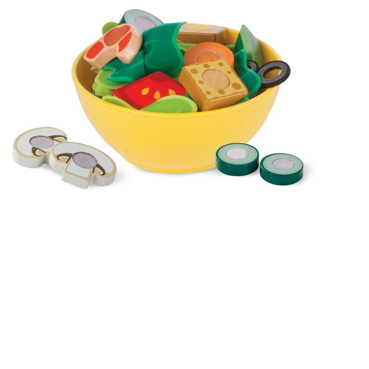 competitive Melissa & Doug Slice and Toss Salad Play Food Set - 52pc Wooden and Felt cheap reasonable