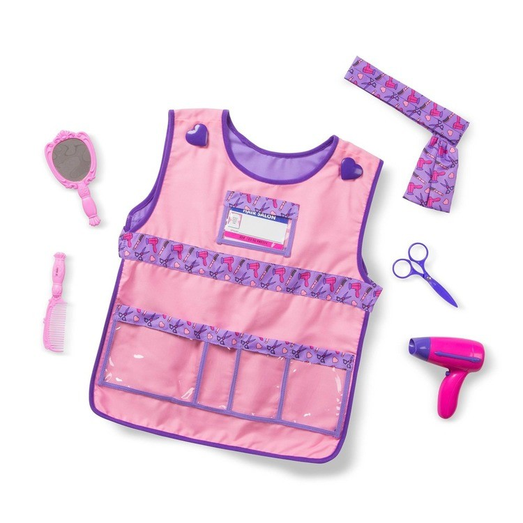 cheap Melissa & Doug Hair Stylist Role Play Costume Dress-Up Set (7pc), Adult Unisex, Gold competitive reasonable
