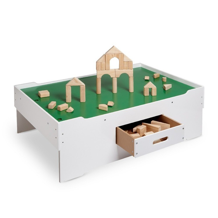 competitive Melissa & Doug Deluxe Wooden Multi-Activity Play Table - For Trains, Puzzles, Games, More cheap reasonable