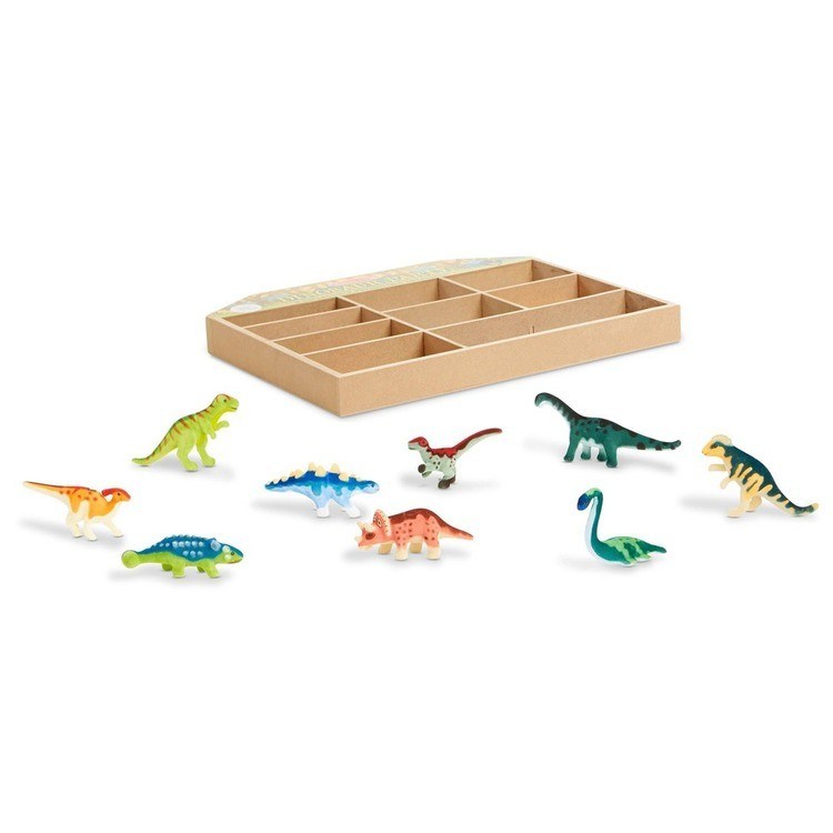 competitive Melissa & Doug Dinosaur Party Play Set - 9 Collectible Miniature Dinosaurs in a Case reasonable cheap