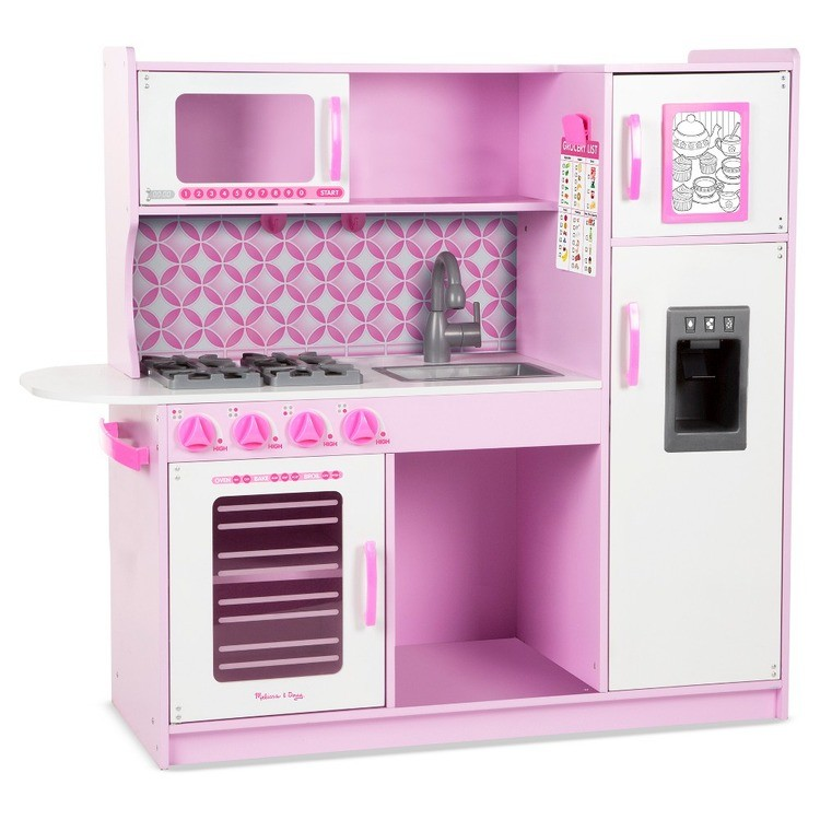 cheap Melissa & Doug Chef's Kitchen Pretend Play Set - Cupcake Pink/White competitive reasonable