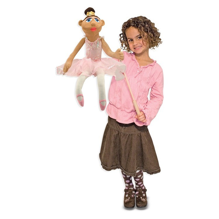 reasonable Melissa & Doug Ballerina Puppet - Full-Body With Detachable Wooden Rod for Animated Gestures competitive cheap
