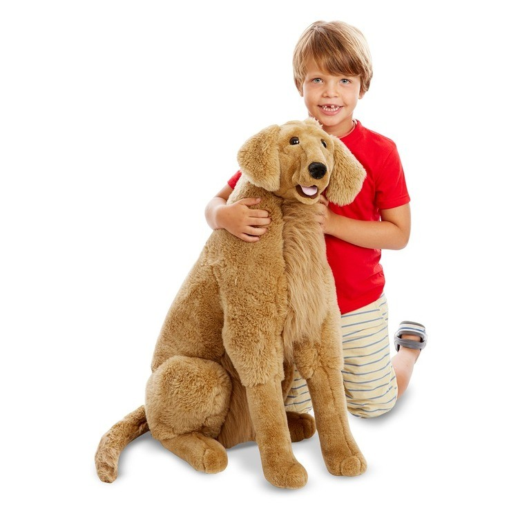 reasonable Melissa & Doug Giant Golden Retriever - Lifelike Stuffed Animal Dog (over 2 feet tall) cheap competitive