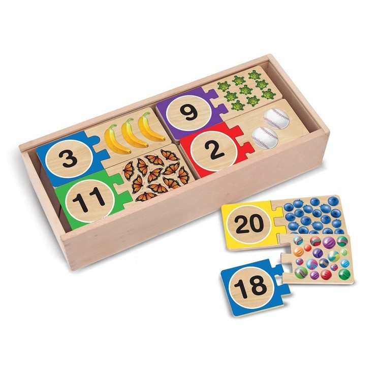competitive Melissa & Doug Self-Correcting Letter and Number Wooden Puzzles Set With Storage Box 92pc cheap reasonable