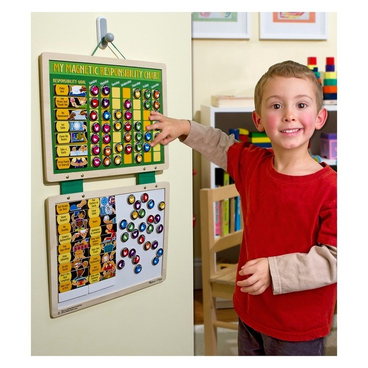 cheap Melissa & Doug Deluxe Wooden Magnetic Responsibility Chart With 90 Magnets reasonable competitive
