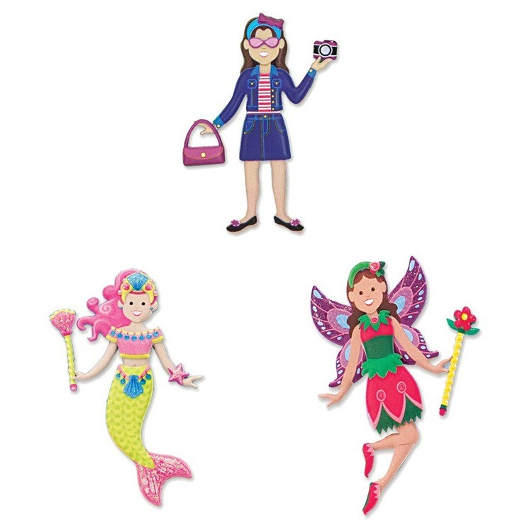 cheap Melissa & Doug Puffy Sticker Pads Set: Fairy, Dress-Up, and Mermaid - 216 Reusable Stickers reasonable competitive